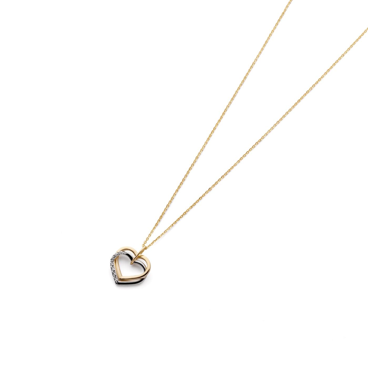 Halsband hjärtan i 18K