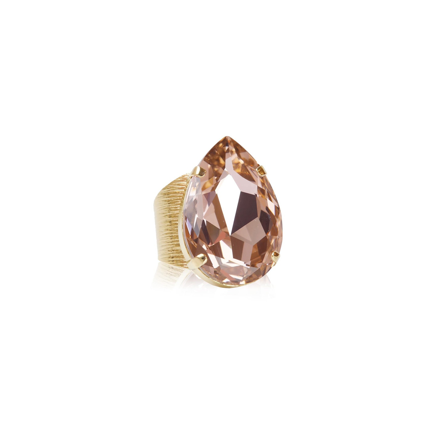 Perfect Drop Ring Gold Vintage Rose