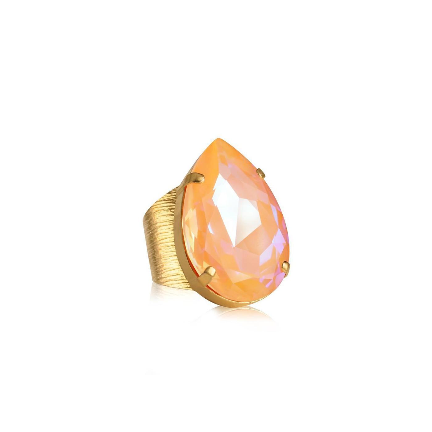 Perfect Drop Ring Gold Peach Delite