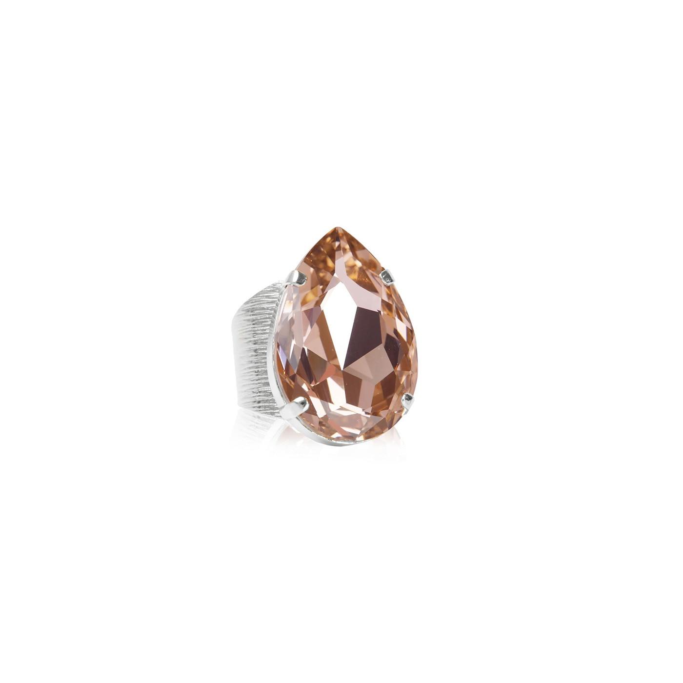 Perfect Drop Ring Rhodium Vintage Rose