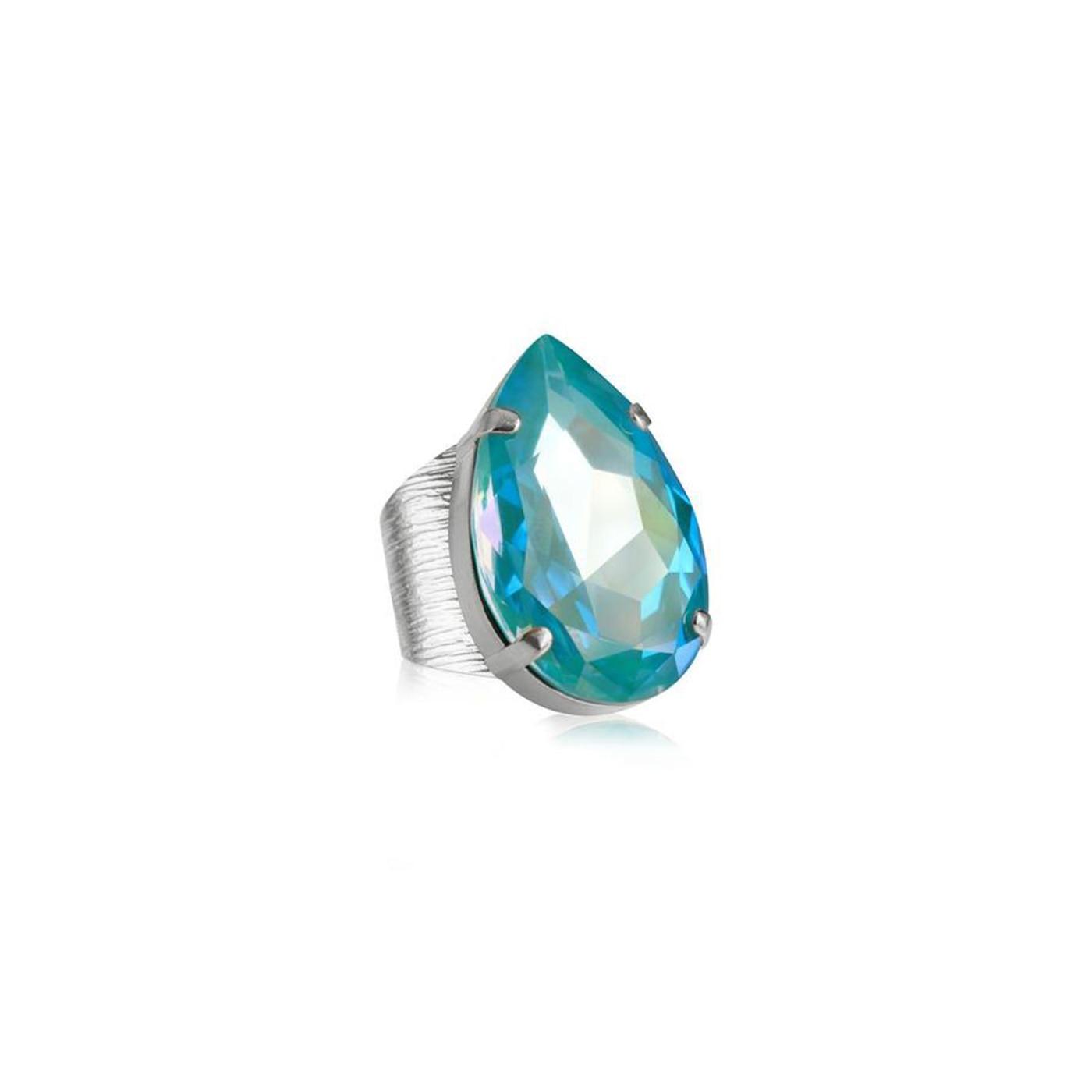 Perfect Drop Ring Rhodium Laguna Delite