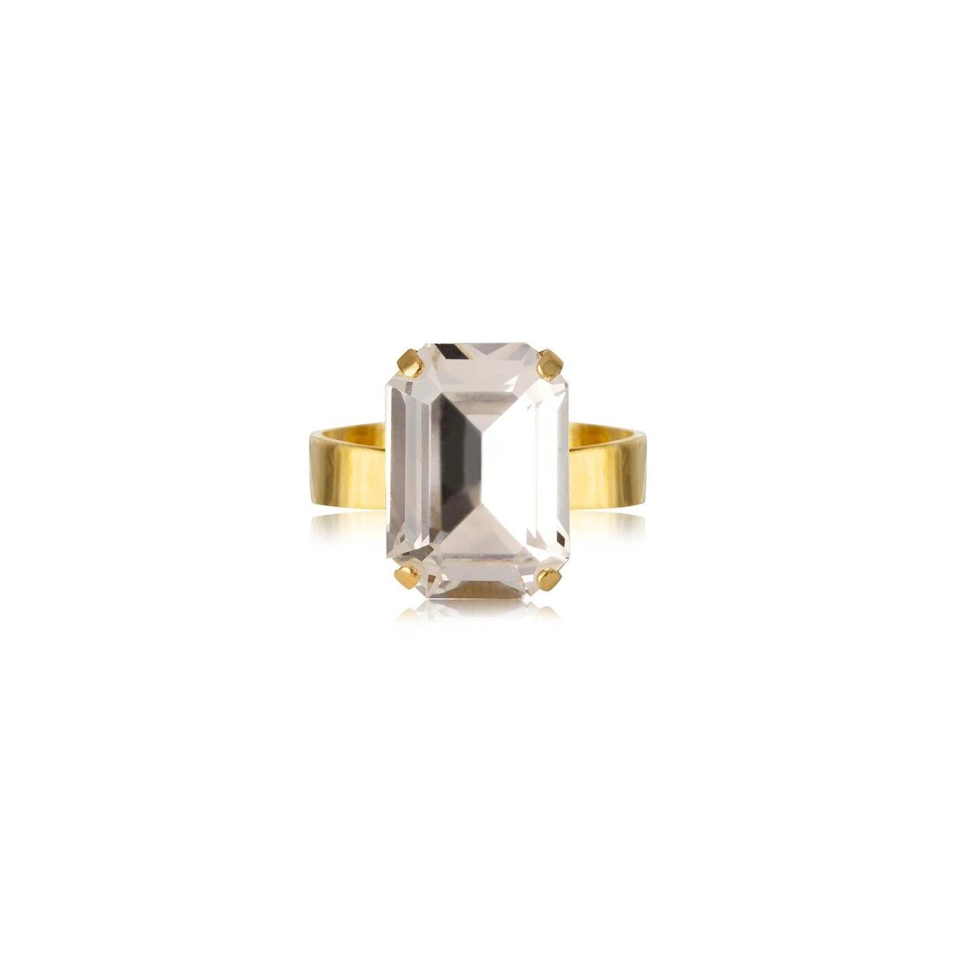 Lydia Ring Gold Crystal