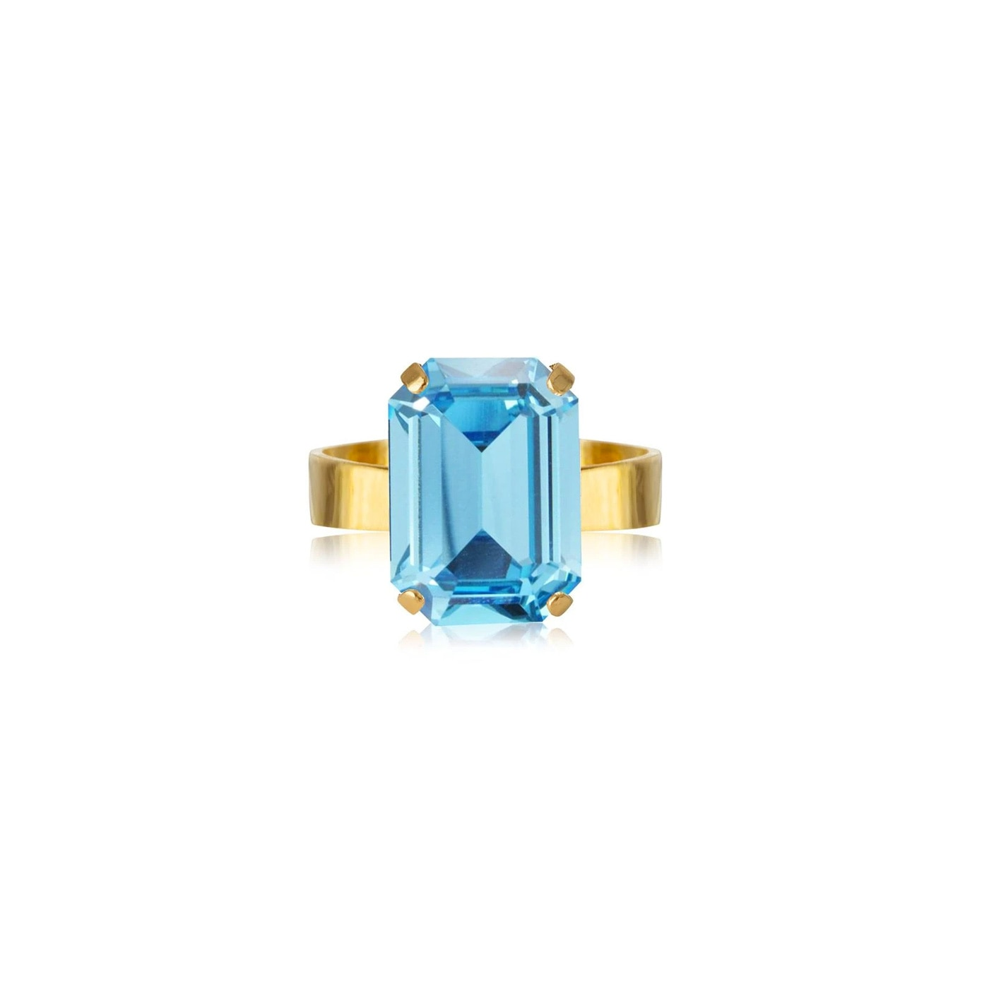 Lydia Ring Gold Aquamarine