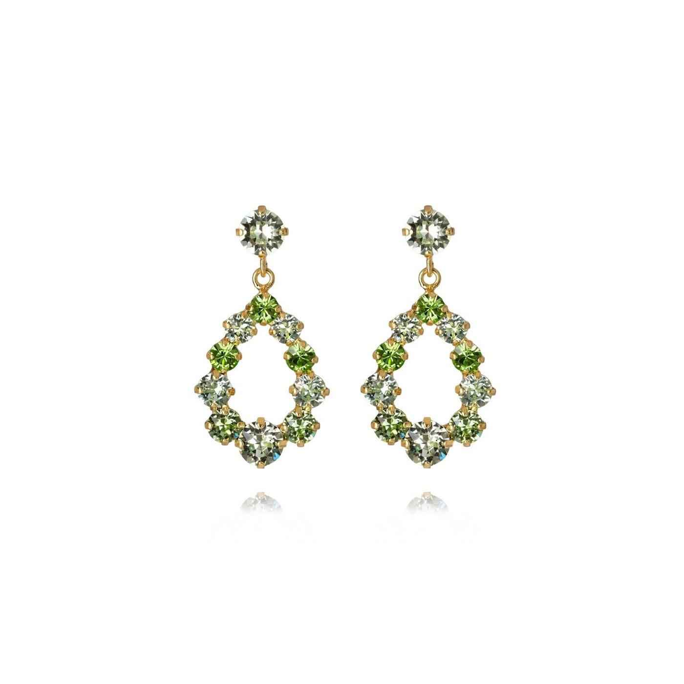 Mini Delia Earring Gold / Chrysolite + Peridot