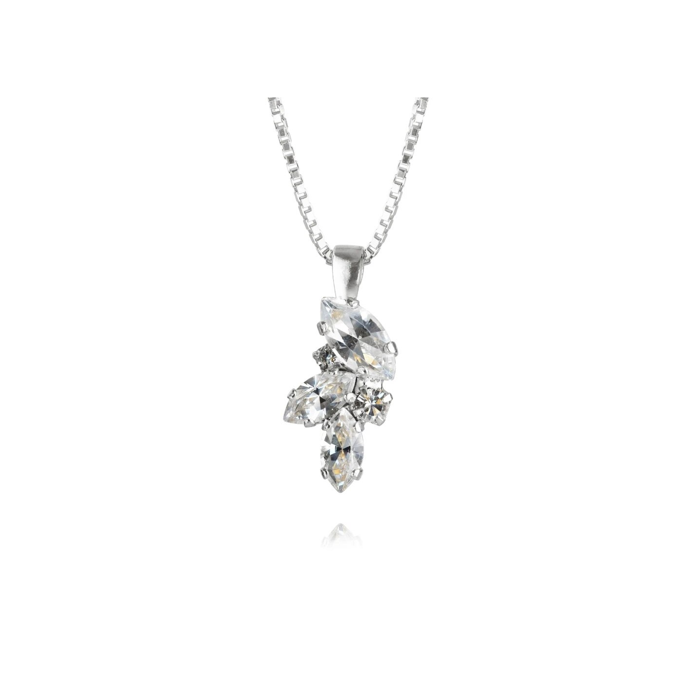 Adele Halsband Rhodium Crystal