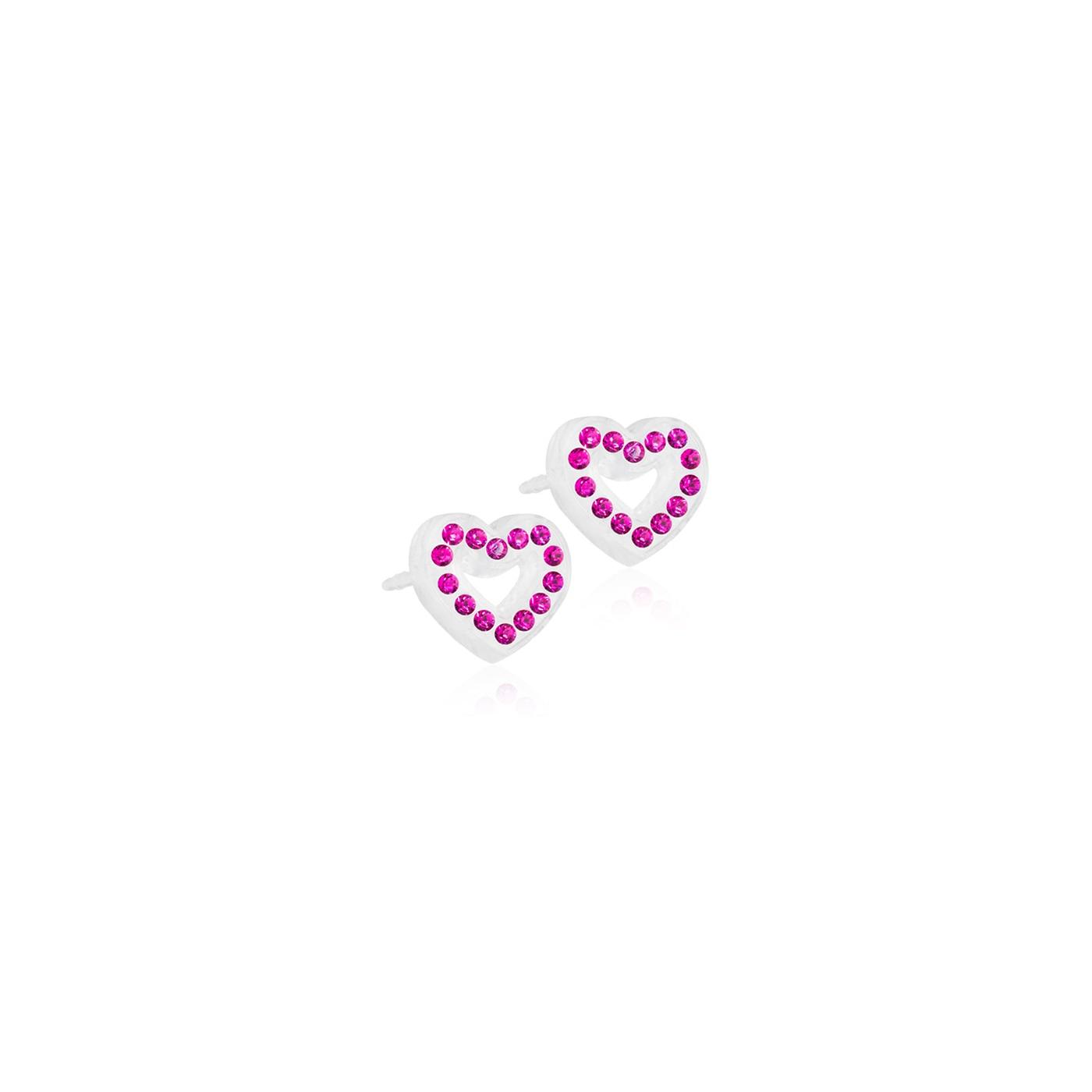 MP Brilliance Heart Hollow 10 mm, Fuchsia