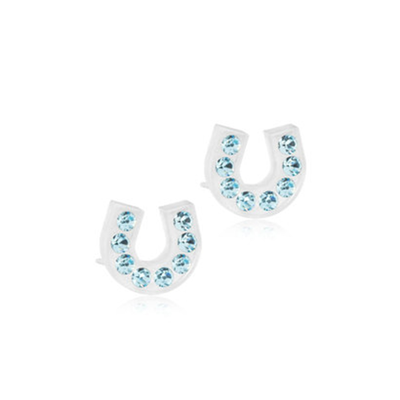 MP Brilliance Horseshoe 7 mm, Aquamarine