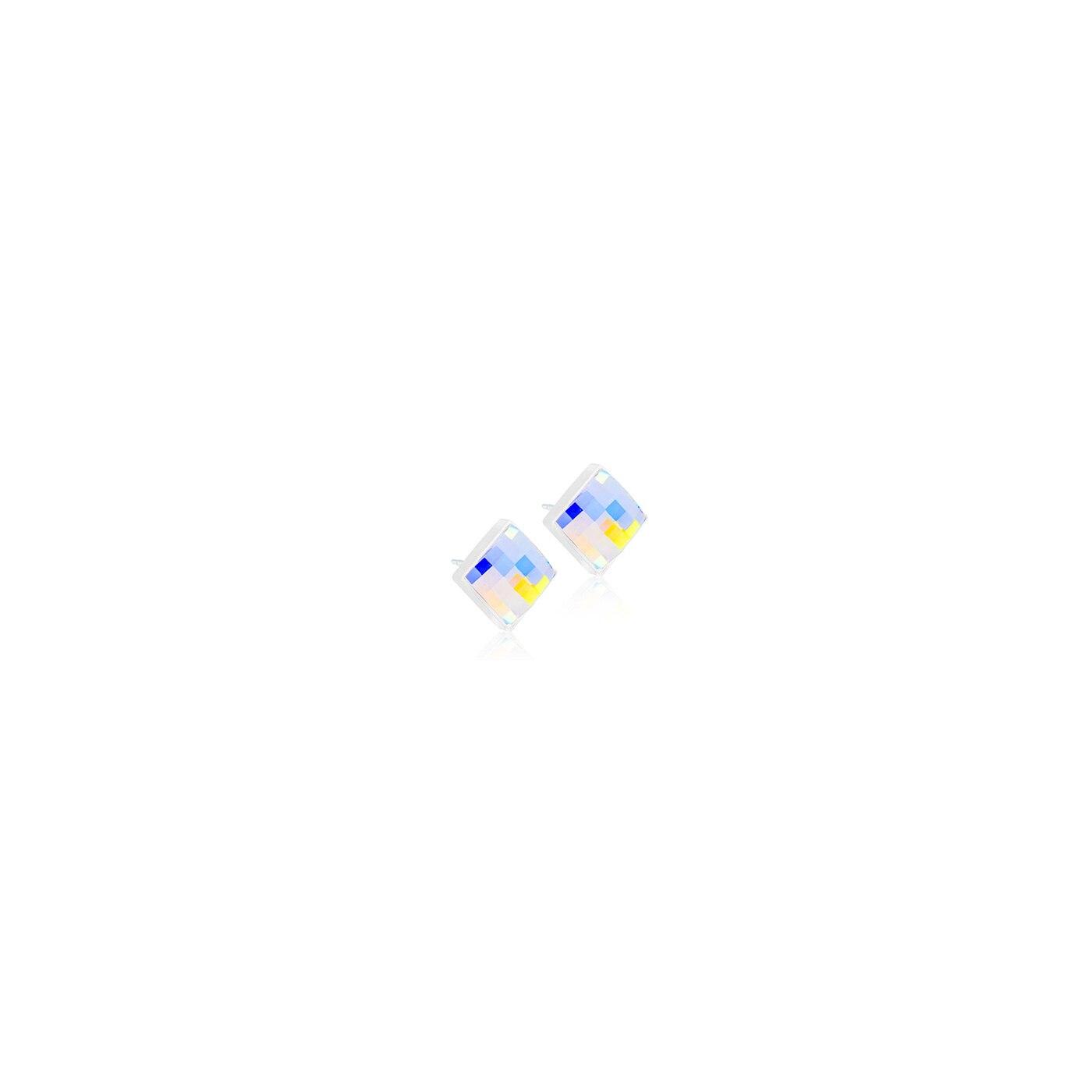 MP Facet Square 10 mm, Rainbow
