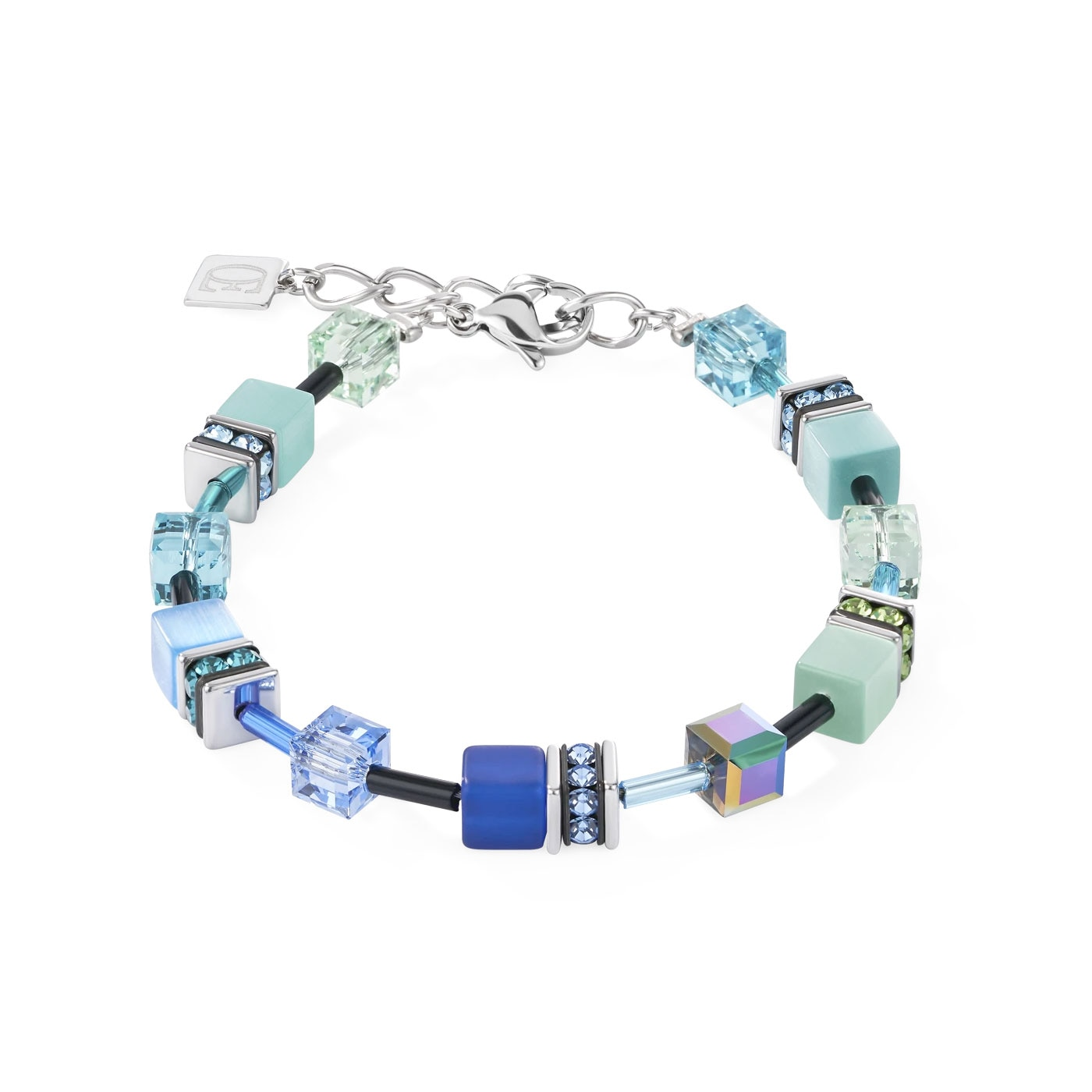 GeoCUBE Bracelet blue-green