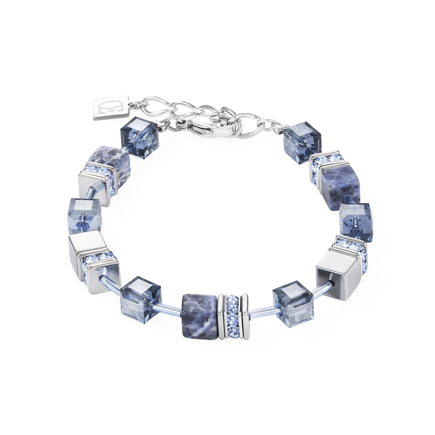 GeoCUBE Bracelet sodalite & haematite blue