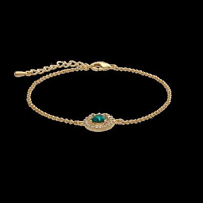 Miss Miranda bracelet - Emerald (gold)
