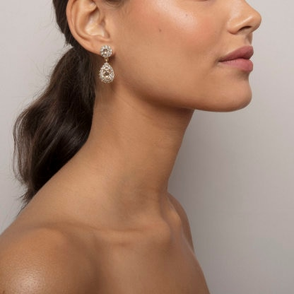 Sofia earrings - Light silk