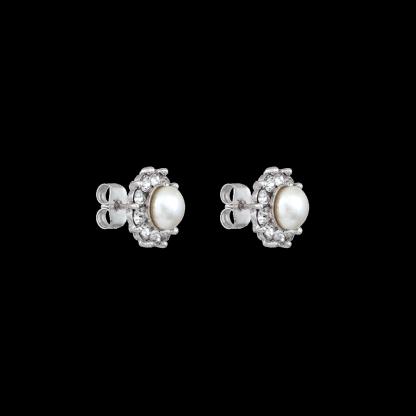 Miss Sofia pearl earrings - Créme