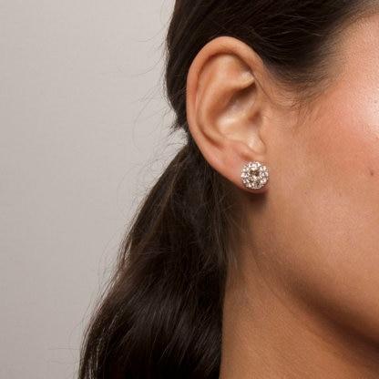 Miss Sofia earrings - Light silk (Silver)