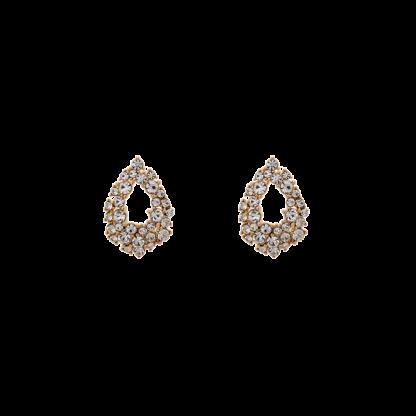 Petite Alice earrings - Crystal (Gold)
