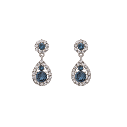 Petite Sofia earrings - Silver blue