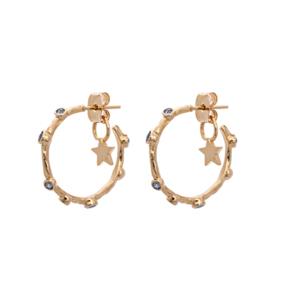 Petite Gaya hoops earrings - Indian Sapphire