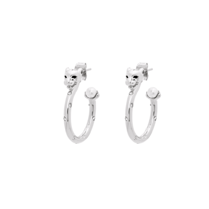 Petite Sheba hoops earrings - Silver