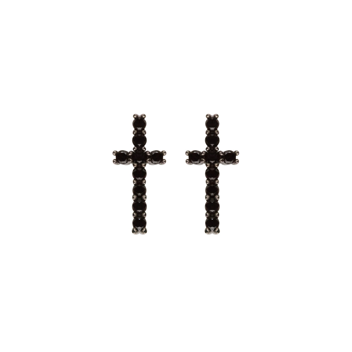 Black-cross-earrings