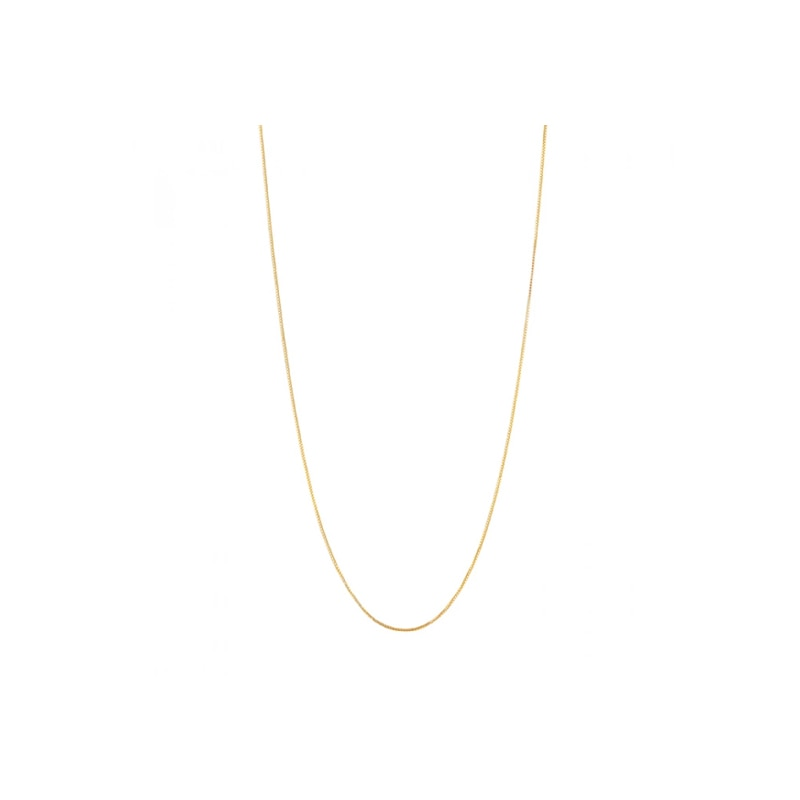 Gold Plated Silver Chain (60cm)