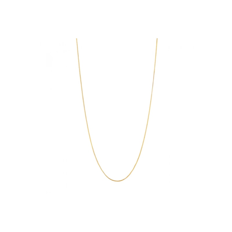 Gold Plated Silver Chain (50cm)