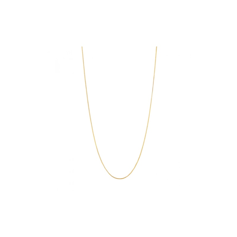Gold Plated Silver Chain (45cm)