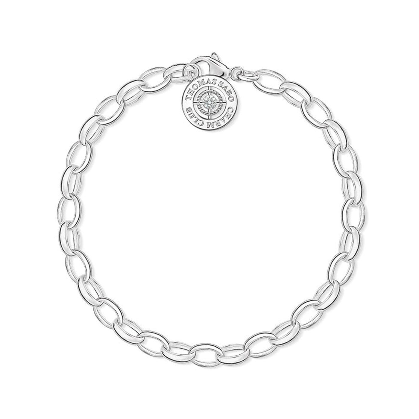 Charm-armband diamant 17 cm