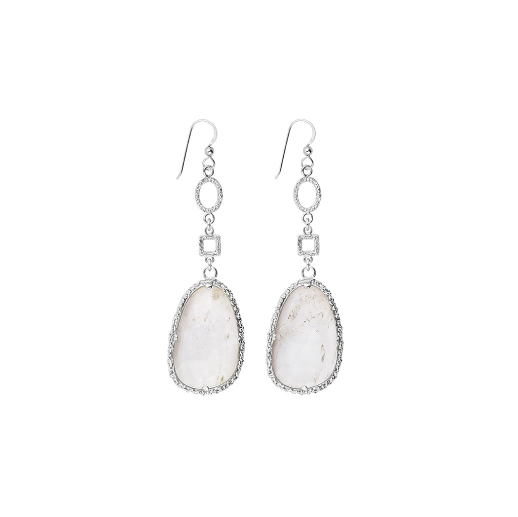 Drop-white-earrings-silver