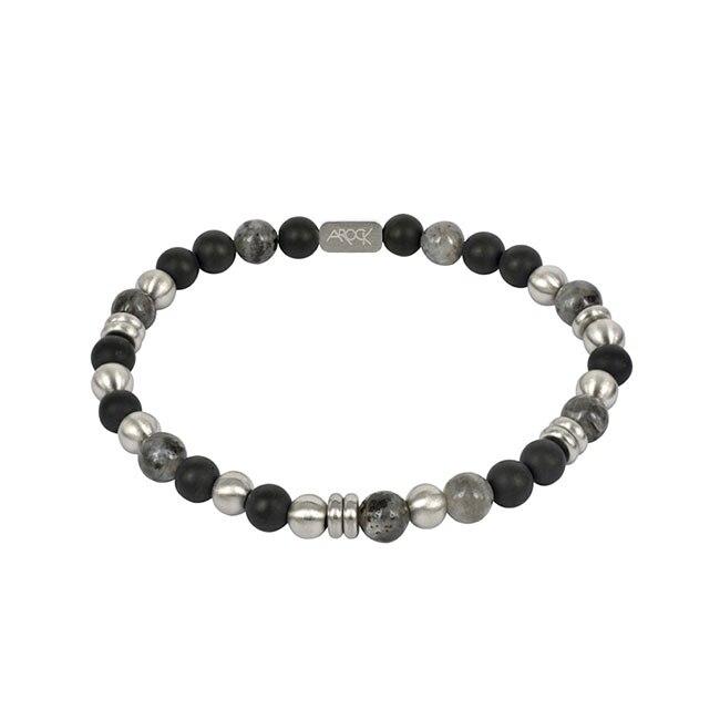EDDIE Armband svart/stål