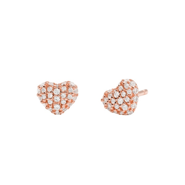 Hearts earrings rose gold