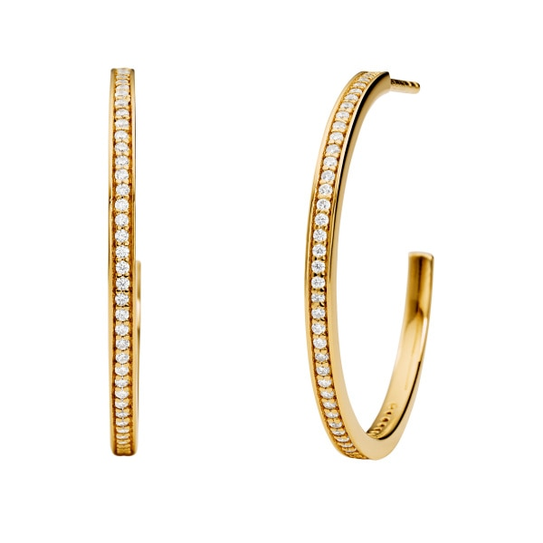 Premium hoop gold earrings