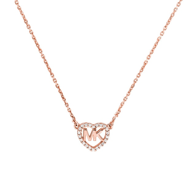Hearts necklace rose gold