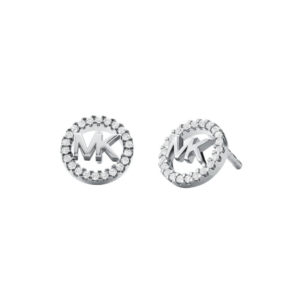 Premium earrings logo silver