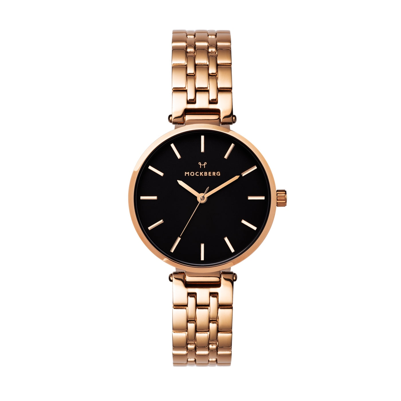 Original Links rose gold black 34 mm