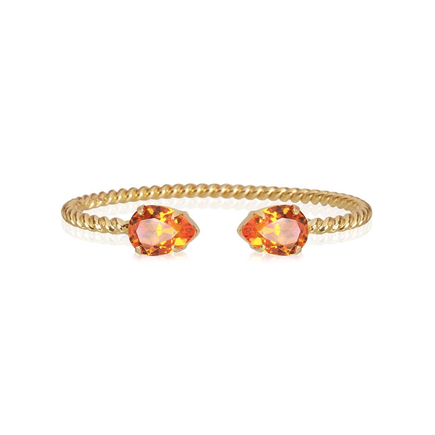 Mini Drop Bracelet Gold Tangerine