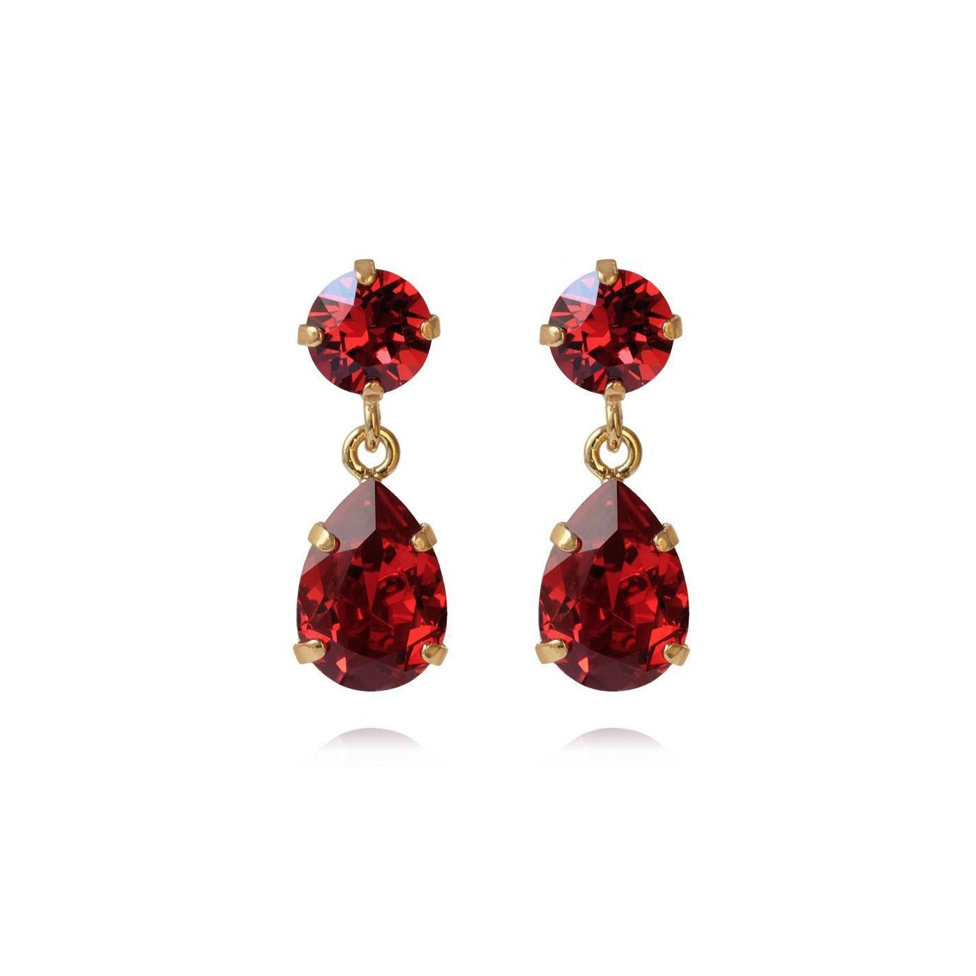 KIZZY Jewellery Mini Cooper red resin drop dangly earrings