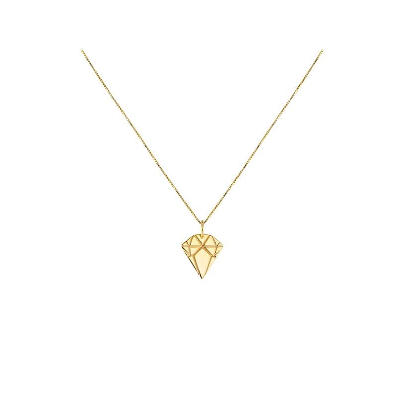 Golden Diamond Necklace Small