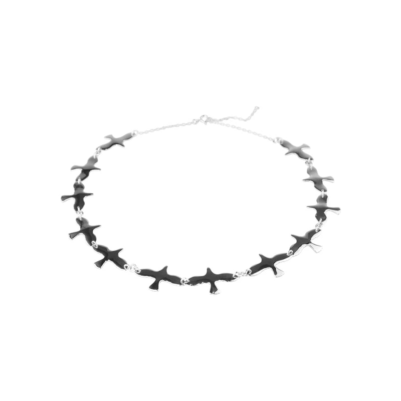 Doves Necklace Silver