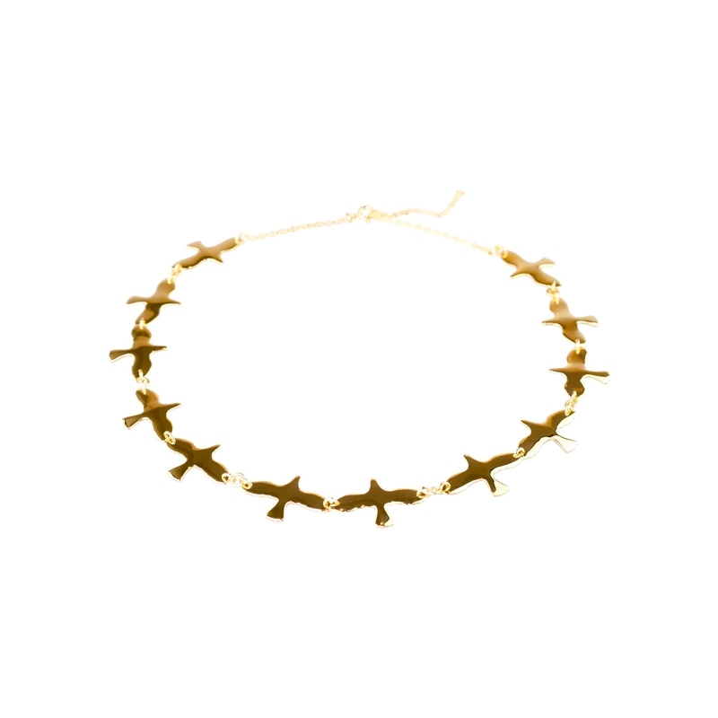 Doves Necklace Gold