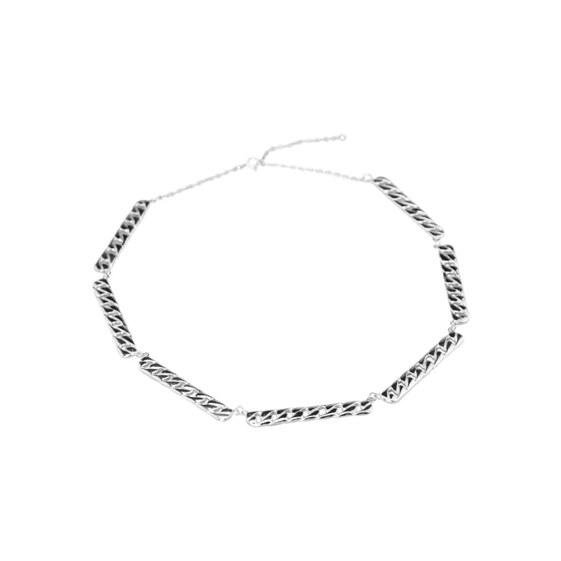 Linked Necklace Silver