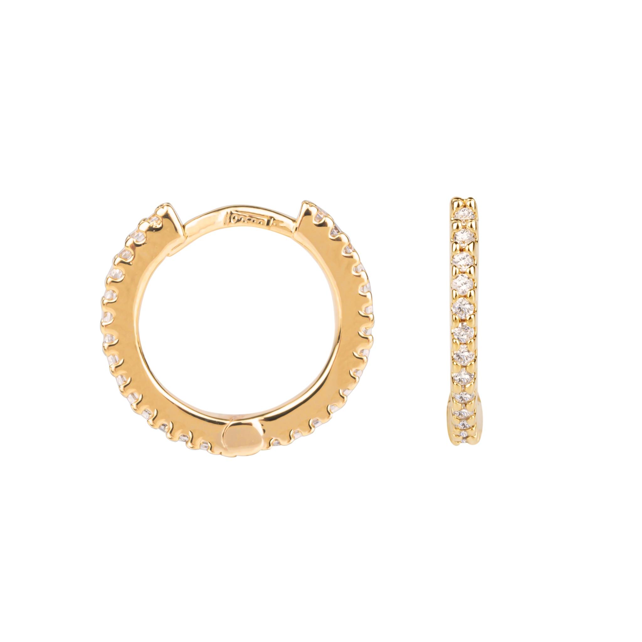 Zircons hoop earrings small