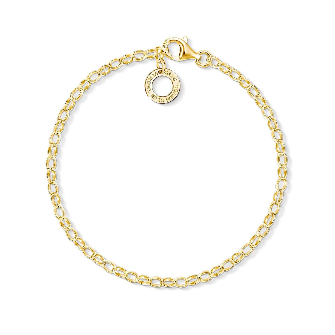 Charm-armband guld 17 cm