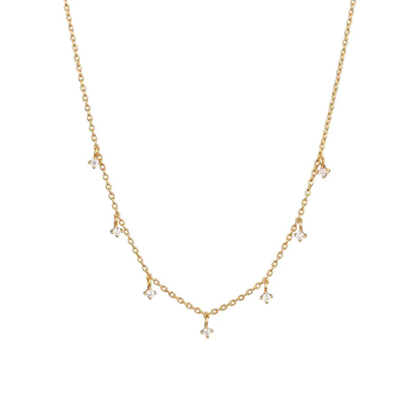 Halsband med zirkonia 38+5cm