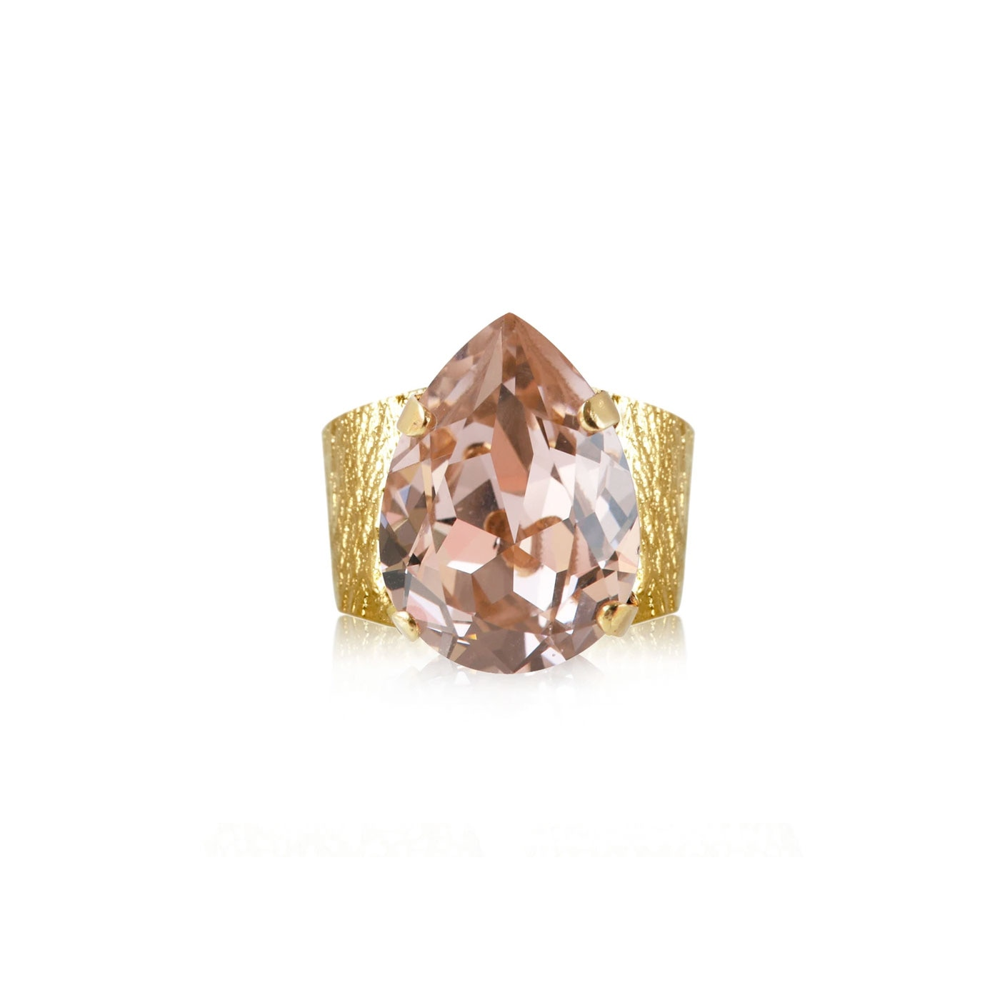 Classic Drop Ring Gold Vintage Rose