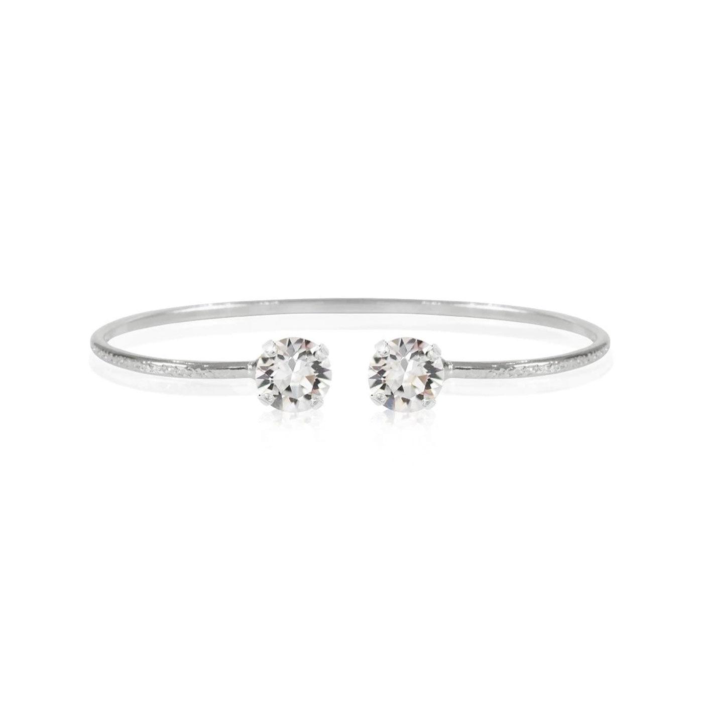Classic Petite Bracelet Rhodium Crystal