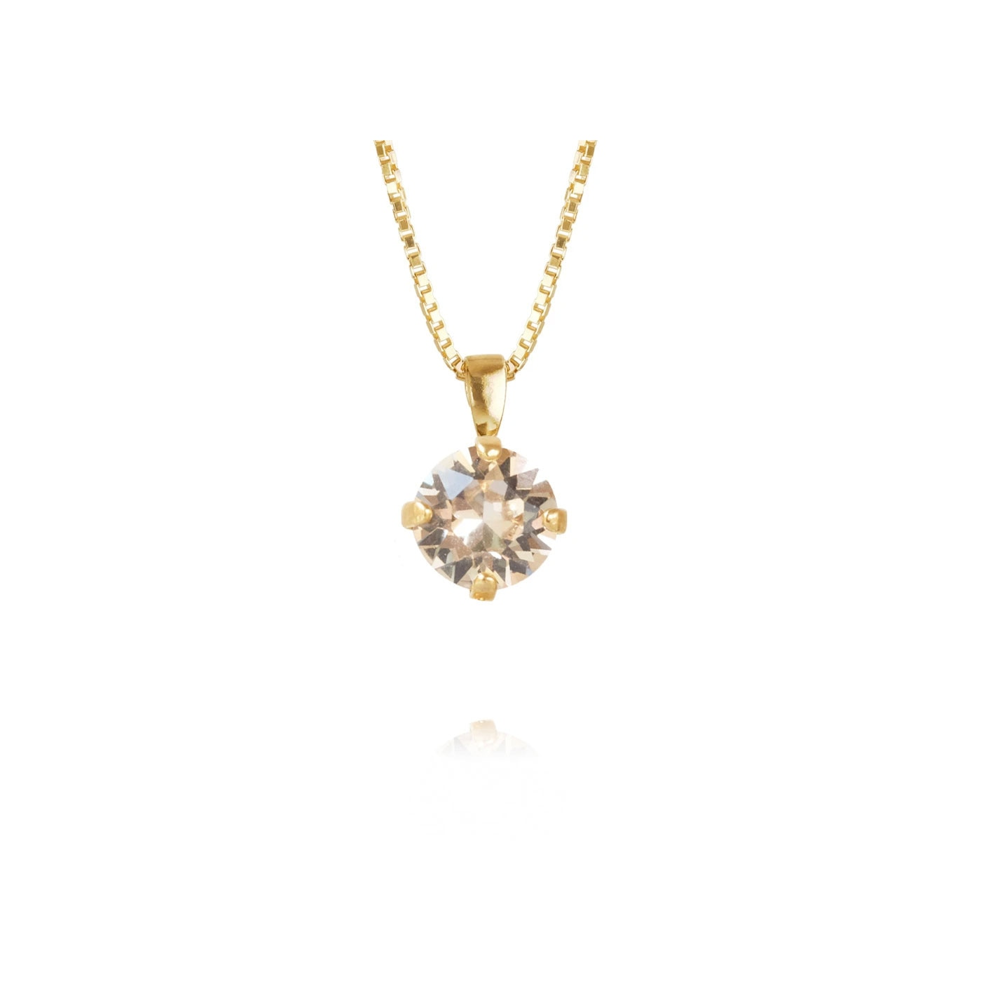 Classic Petite Necklace Gold Silk