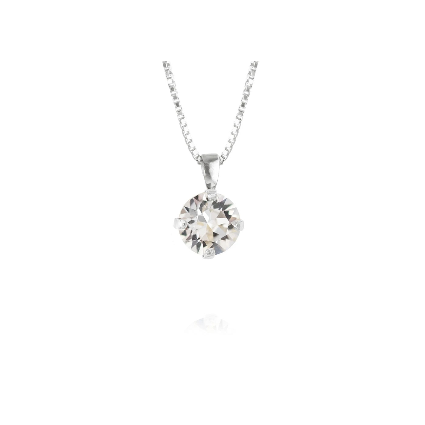 Classic Petite Necklace Rhodium Crystal