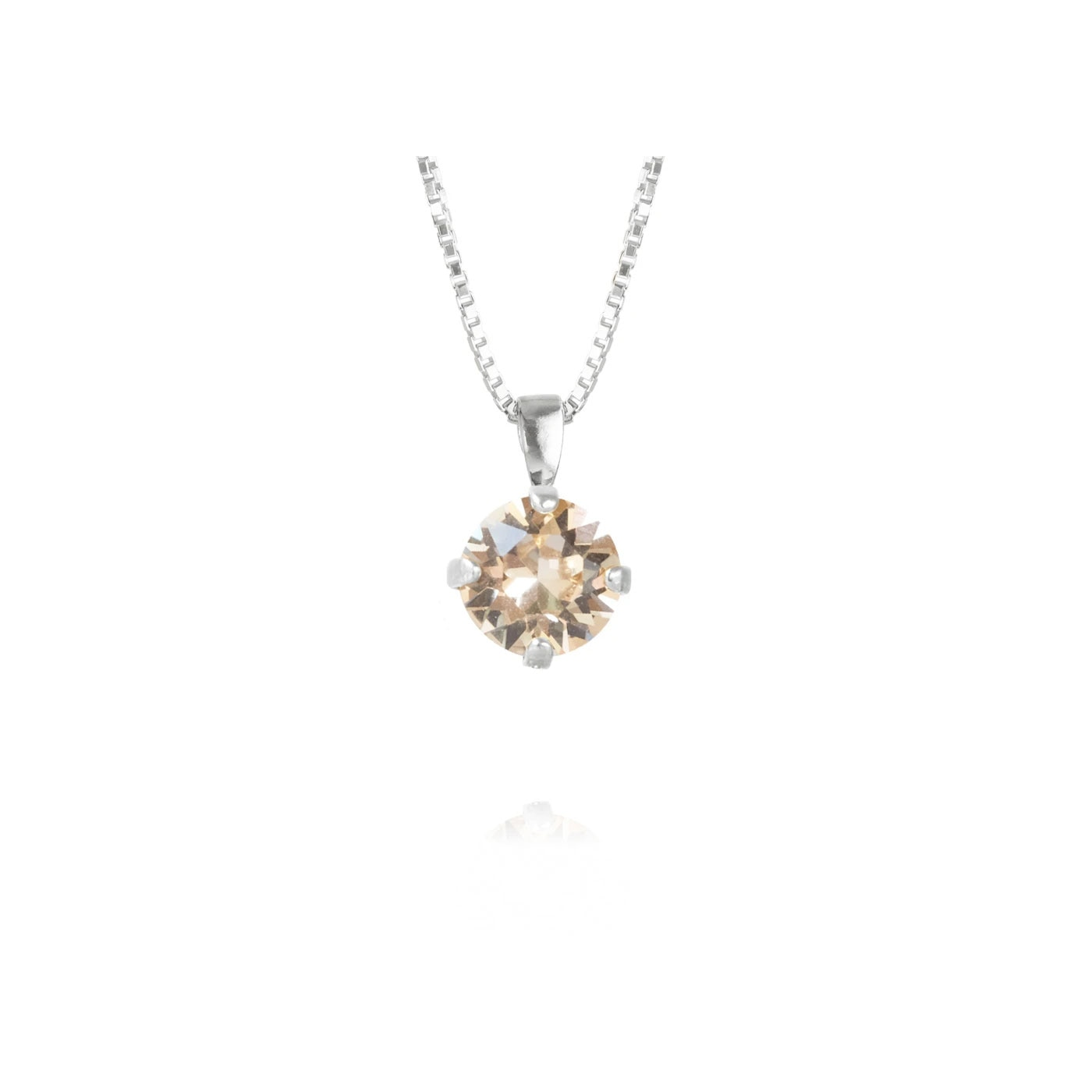 Classic Petite Necklace Rhodium Silk