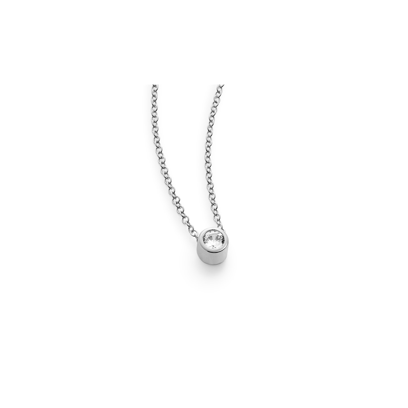 Gloria halsband 18K 0,14 ct 42-45 cm