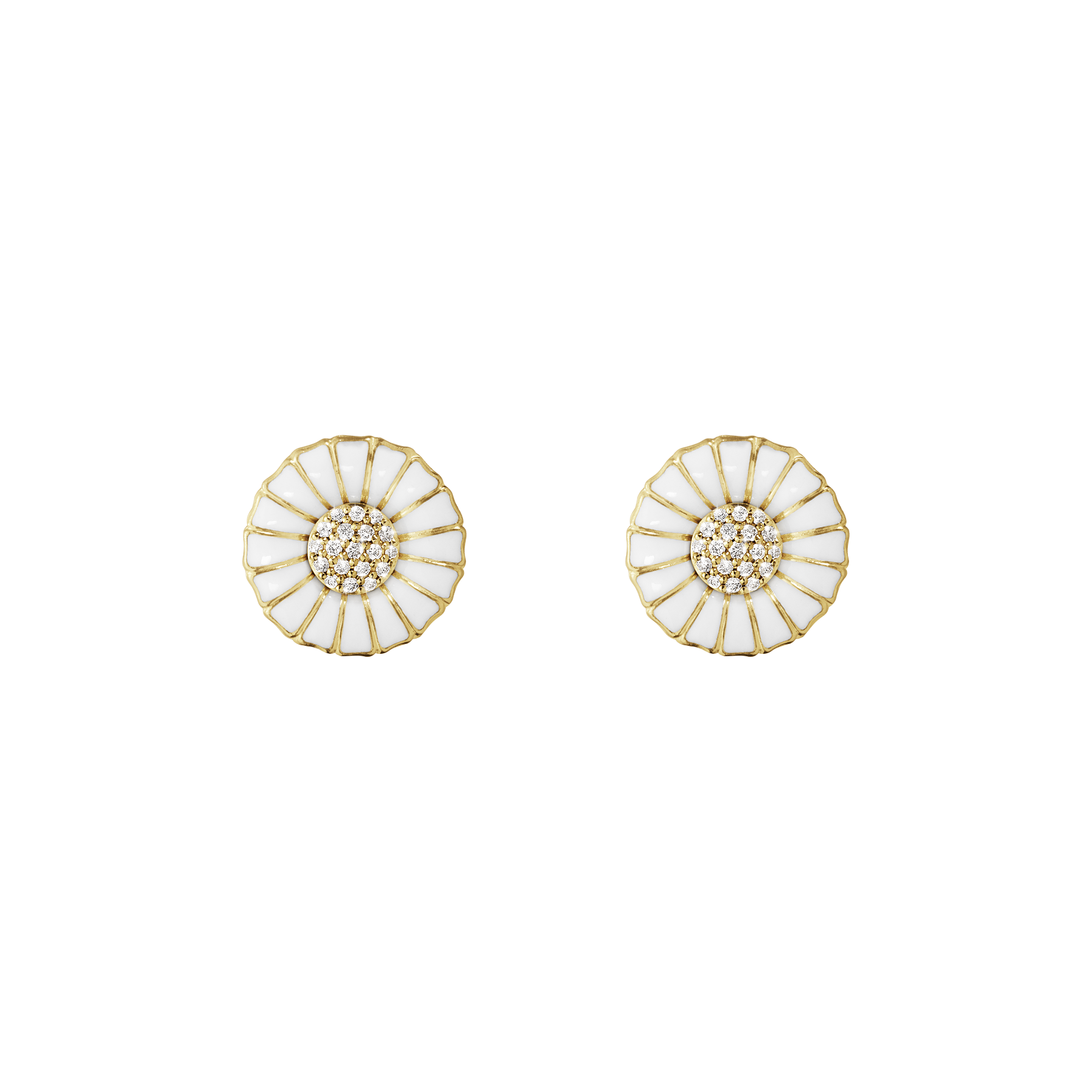 Daisy Earrings Gold Plated 0,10 ct